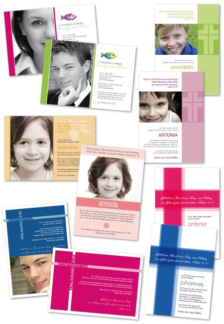 einladungskarten konfirmation und kommunion