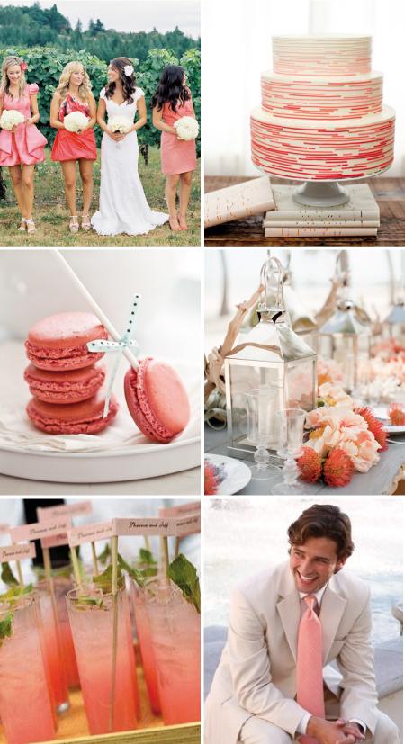 Groß Coral Farbe Hochzeitstischdeko Bilder   Brautkleider Ideen .