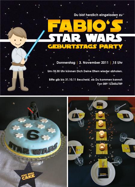star wars kindergeburtstagsparty, Einladung