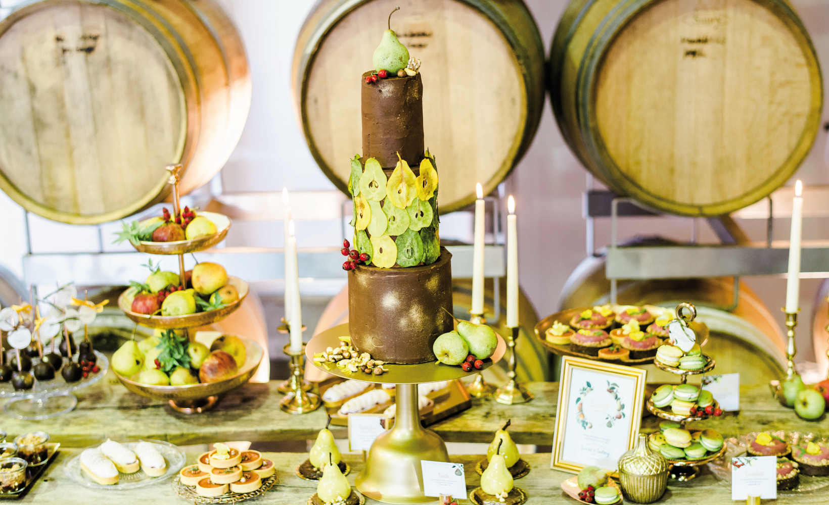 sweet table aus schwäbischem wiesenobst